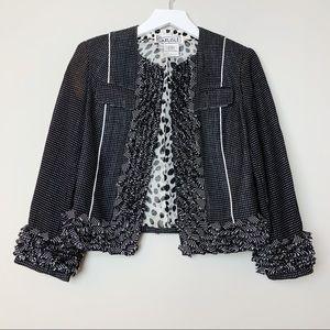 Carlisle Black and White Tweed Cropped Jacket